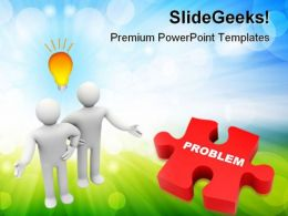 Troubleshooting Problem Business PowerPoint Templates And PowerPoint Backgrounds 0511