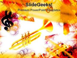 Trumpet Music PowerPoint Templates And PowerPoint Backgrounds 0611