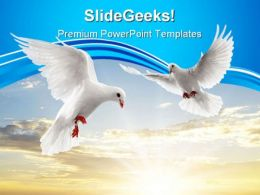 Two Dove Animals PowerPoint Templates And PowerPoint Backgrounds 0411