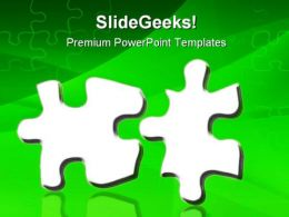 Two Jigsaws Puzzle Shapes PowerPoint Templates And PowerPoint Backgrounds 0811