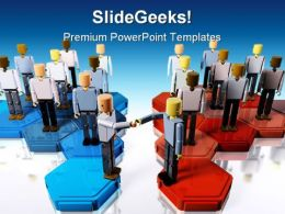 Two Teams Merging Business PowerPoint Templates And PowerPoint Backgrounds 0211