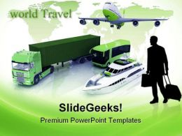 Types Of Transport Travel PowerPoint Templates And PowerPoint Backgrounds 0711  Presentation Themes and Graphics Slide01