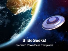 Ufo Invasion Globe PowerPoint Templates And PowerPoint Backgrounds 0811