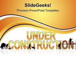 Under Construction05 Architecture PowerPoint Templates And PowerPoint Backgrounds 0811