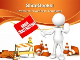 Under Construction06 Architecture PowerPoint Templates And PowerPoint Backgrounds 0811