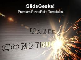 Under Construction Abstract PowerPoint Templates And PowerPoint Backgrounds 0811