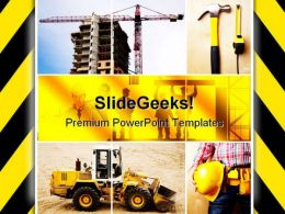 Under Construction Architecture PowerPoint Templates And PowerPoint Backgrounds 0811