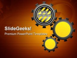 Under Construction Gears Industrial PowerPoint Templates And PowerPoint Backgrounds 0711