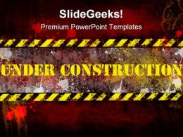 Under Construction Poster Background PowerPoint Templates And PowerPoint Backgrounds 0711