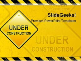 Under Construction Symbol PowerPoint Templates And PowerPoint Backgrounds 0811