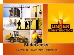 Construction Powerpoint Themes Construction Powerpoint