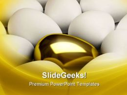 Unique Golden Egg Leadership PowerPoint Templates And PowerPoint Backgrounds 0711