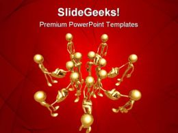 United Handshake People PowerPoint Templates And PowerPoint Backgrounds 0811