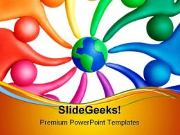 United People Globe PowerPoint Templates And PowerPoint Backgrounds 0811