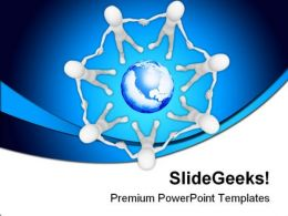 Unity People Globe PowerPoint Templates And PowerPoint Backgrounds 0311