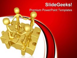 Unity Puzzle People PowerPoint Templates And PowerPoint Backgrounds 0811