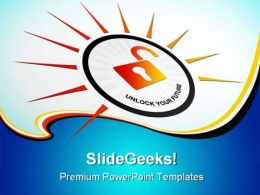 Unlock Your Future Security PowerPoint Templates And PowerPoint Backgrounds 0311