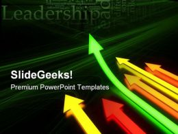 Up Arrows Leadership PowerPoint Templates And PowerPoint Backgrounds 0711