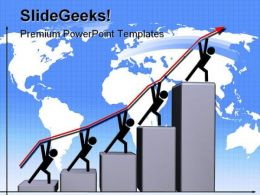 Up Diagram Graph Business PowerPoint Backgrounds And Templates 1210