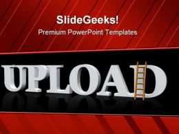 Upload With A Ladder Success PowerPoint Templates And PowerPoint Backgrounds 0411