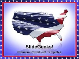 Us Flag Americana PowerPoint Templates And PowerPoint Backgrounds 0811