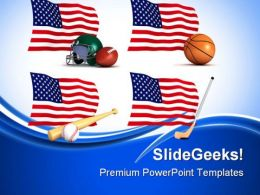 Us Sports Americana PowerPoint Templates And PowerPoint Backgrounds 0811