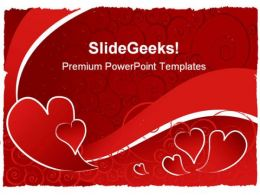 Valentine Abstract PowerPoint Template 1110