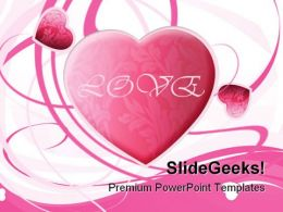 Valentine Heart Abstract PowerPoint Backgrounds And Templates 1210