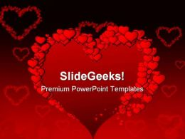 Valentine Heart Beauty PowerPoint Backgrounds And Templates 1210