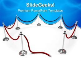 Velvet Rope Symbol PowerPoint Templates And PowerPoint Backgrounds 0811