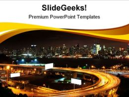 Vibrant Night Time Travel PowerPoint Templates And PowerPoint Backgrounds 0711