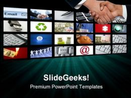 Video Tv Screen Technology PowerPoint Templates And PowerPoint Backgrounds 0711