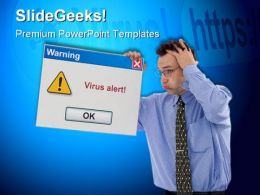 Virus Alert Computer PowerPoint Backgrounds And Templates 0111