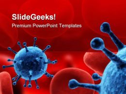 Virus Medical PowerPoint Template 1110