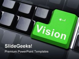 Vision Key Business PowerPoint Template 0910