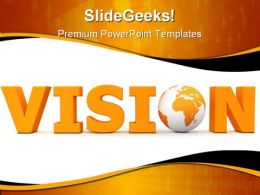 Vision World Globe PowerPoint Template 0910