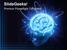 Vivid Brain Medical PowerPoint Template 0610