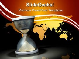 Waiting On The World Business PowerPoint Templates And PowerPoint Backgrounds 0711