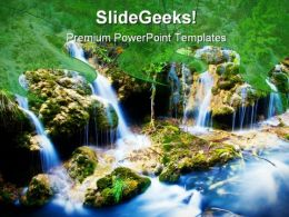 Water Fall Nature PowerPoint Templates And PowerPoint Backgrounds 0311