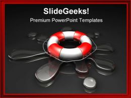 Water Rescue Business PowerPoint Template 0610