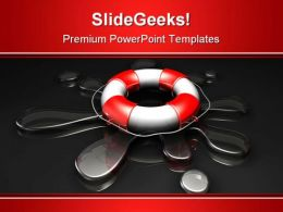 Water Rescue Global PowerPoint Template 1110