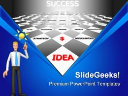 Way To Idea Success Business PowerPoint Templates And PowerPoint Backgrounds 0811