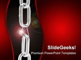 Weakest Link Security PowerPoint Background And Template 1210