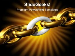 Weakest Link Security PowerPoint Template 0510