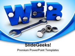 Web Construction Internet PowerPoint Backgrounds And Templates 1210