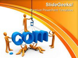 Web Design Internet PowerPoint Template 0810