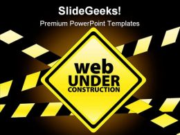 Web Under Construction Internet PowerPoint Templates And PowerPoint Backgrounds 0511