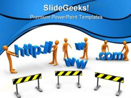 Website Construction PowerPoint Templates And PowerPoint Backgrounds 0511