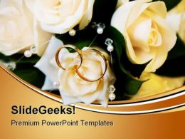 Wedding Rings Events PowerPoint Templates And PowerPoint Backgrounds 0411
