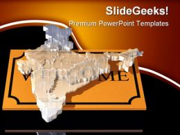 Welcome India Global PowerPoint Templates And PowerPoint Backgrounds 0511